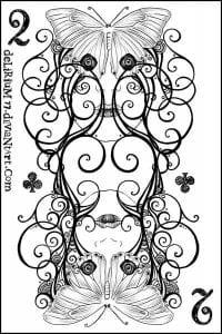 игральные карты раскраска (2)
