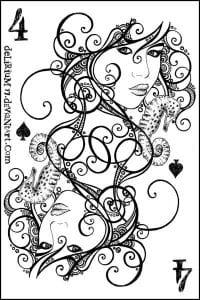 игральные карты раскраска (21)