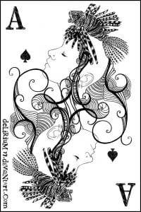 игральные карты раскраска (24)