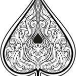 игральные карты раскраска (27)