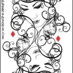 игральные карты раскраска (3)