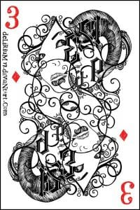 игральные карты раскраска (4)