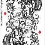 игральные карты раскраска (5)