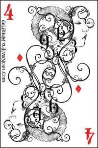 игральные карты раскраска (6)