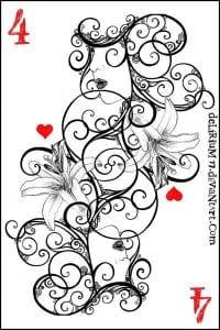 игральные карты раскраска (7)