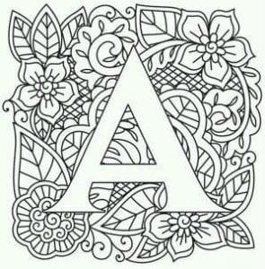 изучаем буквы английского алфавита раскраска