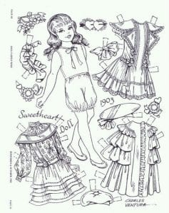 картинки бумажные куклы с одеждой для вырезания