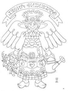 картинки для детей раскраски ангелы