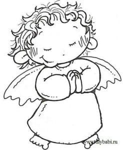 картинки раскраска ангела