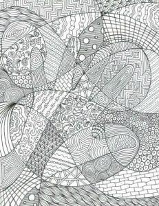 красивые раскраски иллюзии распечатать