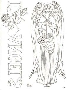 крыльями красивые раскраски ангелов с