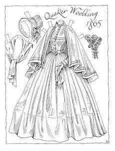 кукла с набором одежды для вырезания бумажная