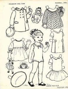 куклы для вырезания распечатать и раскрасить бумажные
