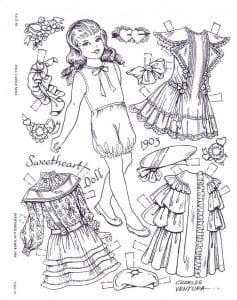 куклы напечатать бумажные