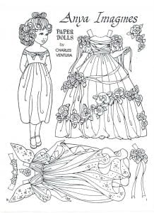 куклы с нарядами бумажные