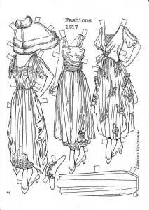 куклы с одеждой для печати бумажные