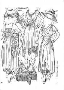 куклы с одеждой для вырезания распечатать бумажные