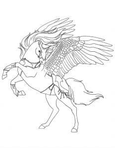 лошади раскраски печатать пегас