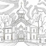 на тему православие раскраски