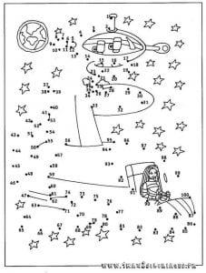 обводим по точкам рисунки для детей