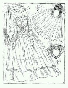 одежда для бумажных кукол картинки