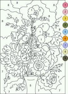 по номерам для взрослых рисунки