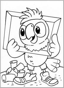 попугай кеша раскраски онлайн