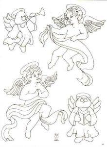православные для детей раскраски ангелов бесплатно