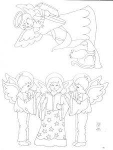 про ангела раскраска