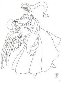 про ангела раскраска бесплатно