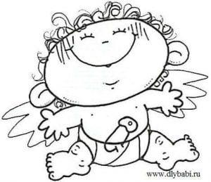 raskraska-angel-besplatno-300x259 Ангел-хранитель