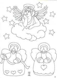раскраска ангел божий распечатать