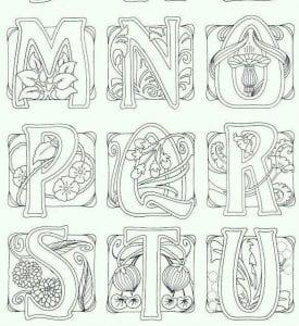 раскраска английский алфавит amelica