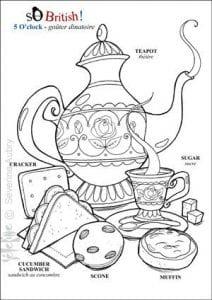 раскраска чайная чашка