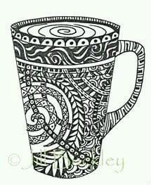 раскраска чашка для чая картинка