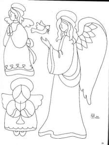 раскраска для детей ангел хранитель