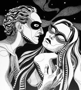 раскраска мужчина и женщина