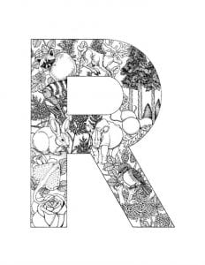 раскраска по английскому языку алфавит
