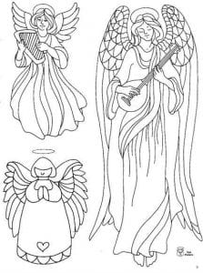 раскраска про ангела