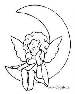 раскраска распечатать ангел бесплатно