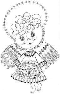 раскраски ангелов православные для детей