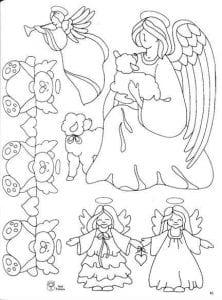 раскраски ангелов с крыльями красивые бесплатно