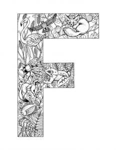 раскраски английский алфавит с картинками и словами