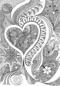 раскраски антистресс про любовь