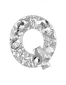 раскраски буквы английского алфавита распечатать