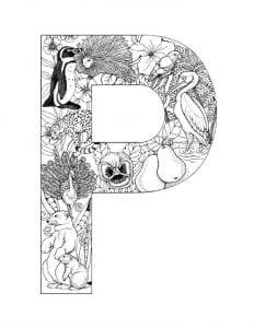раскраски буквы английского алфавита с картинками
