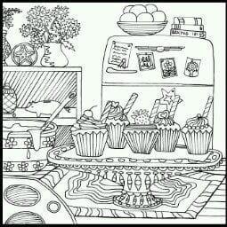 раскраски еда продукты распечатать