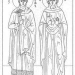 раскраски православные распечатать