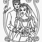 раскраски свадебные