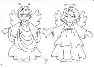 раскраску ангела скачать бесплатно